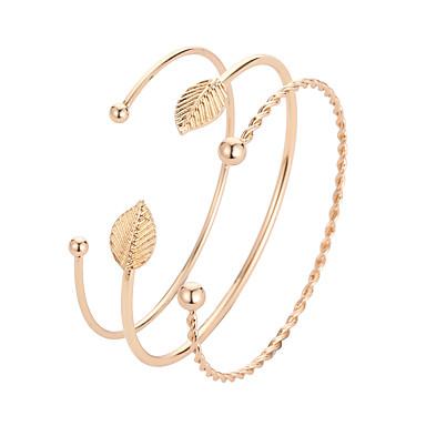 نسائي أساور اصفاد كلاسيكي أنيق الكورية سبيكة مجوهرات سوار ذهبي من أجل مناسب للبس اليومي