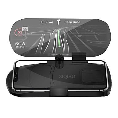 Недорогие Приборы для проекции на лобовое стекло-Ziqiao автомобиль HUD Head Up Display скорость предупреждение GPS навигация кронштейн HUD для смарт-мобильный телефон автомобильная подставка складной держатель