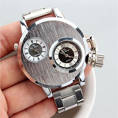 رخيصةأون ساعات الرجال-V6 رجالي ساعة المعصم كوارتز فضة ساعة كاجوال مماثل كاجوال موضة - فضي