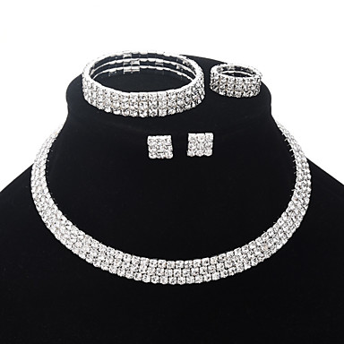 11 99 Women S Cubic Zirconia Bridal Jewelry Sets Clic Luxury Vintage Elegant Earrings Silver For Wedding Party Ceremony 5pcs