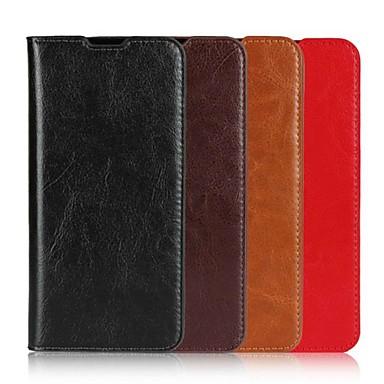 economico Custodie/cover Galaxy A7-Custodia Per Samsung Galaxy A5(2018) / A6 (2018) / A6+ (2018) A portafoglio / Porta-carte di credito / Con supporto Integrale Tinta unita Resistente vera pelle