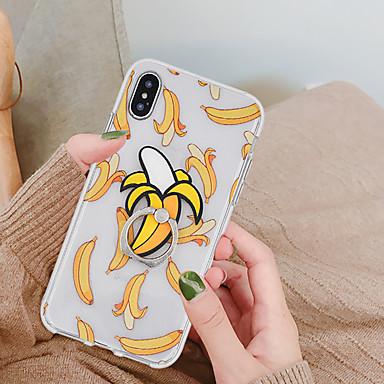 رخيصةأون حافظات أيفون X-غطاء من أجل Apple iPhone XS / iPhone XR / iPhone XS Max حامل الخاتم / نموذج غطاء خلفي مأكولات / فاكهة ناعم TPU