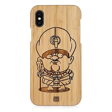voordelige iPhone-hoesjes-hoesje Voor Apple iPhone XS / iPhone XR / iPhone XS Max Reliëfopdruk Achterkant Cartoon Hard Bamboe