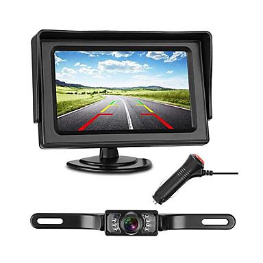 Недорогие Камеры заднего вида для авто-772 4 дюймовый TFT-LCD 480TVL 480 ТВ линий 1/4 дюймовый цветной CMOS с высоким разрешением Проводное 170° 1 pcs 135 ° 4.3 дюймовый Камера заднего вида / Автомобильный реверсивный монитор LED