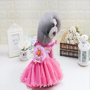 690a59e62df5d كلاب قطط الفساتين ملابس الكلاب وردة زهري قطن كوستيوم من أجل بكيني ...