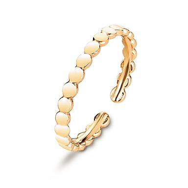 Pentru femei Inel deschis Micro inel de pavele 1 buc Auriu Argintiu Articole de ceramică Stilat Zilnic Bijuterii Clasic