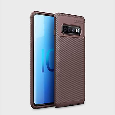 رخيصةأون حافظات / جرابات هواتف جالكسي S-غطاء من أجل Samsung Galaxy Galaxy S10 Plus ضد الصدمات / نحيف جداً غطاء خلفي نموذج هندسي ناعم TPU