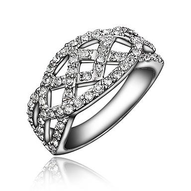 Diamant Bague en argent /él/égant Bague Bagues de fian/çailles bague de mode Femme Bijoux romantique Bague pour homme et femme Cadeau de mariage Bague
