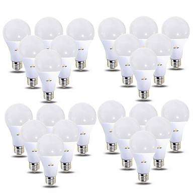 olcso LED izzók-EXUP® 24db 12 W LED gömbbúrás izzók 1180 lm B22 E26 / E27 28 LED gyöngyök SMD 2835 220-240 V 110-130 V