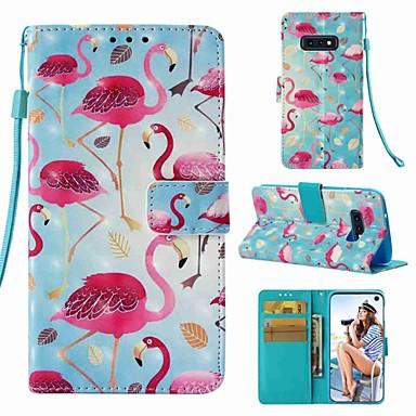 Недорогие Чехлы и кейсы для Galaxy S6 Edge-Кейс для Назначение SSamsung Galaxy S9 / S9 Plus / S8 Plus Кошелек / Бумажник для карт / Флип Чехол Фламинго Твердый Кожа PU