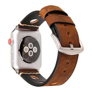Недорогие Ремешки для Apple Watch-Ремешок для часов для Серия Apple Watch 5/4/3/2/1 Apple Спортивный ремешок Натуральная кожа Повязка на запястье