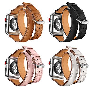 Недорогие Аксессуары для смарт-часов-Ремешок для часов для Серия Apple Watch 5/4/3/2/1 Apple Классическая застежка Натуральная кожа Повязка на запястье
