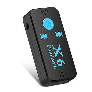 Недорогие Bluetooth гарнитуры для авто-Ziqiao x6 адаптер bluetooth-приемник авто автомобиль bluetooth aux kit поддержка tf карта a2dp аудио стерео bluetooth-приемник handfree