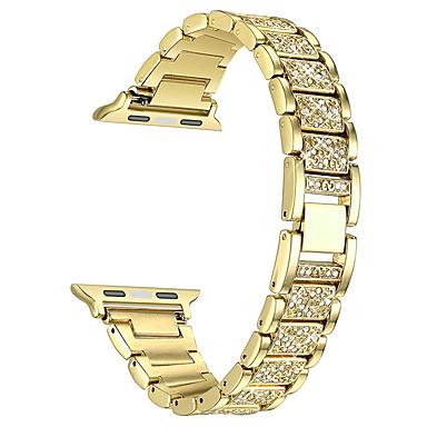 Недорогие Аксессуары для смарт-часов-ремешок для часов для серии Apple Watch 5/4/3/2/1 дизайн ювелирных изделий Apple из нержавеющей стали с бриллиантами