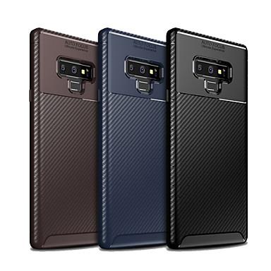 Недорогие Чехлы и кейсы для Galaxy Note-Кейс для Назначение SSamsung Galaxy Note 9 Защита от пыли Кейс на заднюю панель Однотонный / Полосы / волосы Мягкий ТПУ