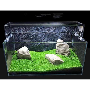 tanie Akwaria i akcesoria dla rybek-Akwarium Dekoracja akwarium Roślina wodna Kolor losowy Przenośny Dekoracja Specjalny materiał 1 12*8*0.5 cm