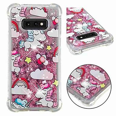 voordelige Galaxy S-serie hoesjes / covers-hoesje Voor Samsung Galaxy S9 / S9 Plus / S8 Plus Schokbestendig / Stromende vloeistof / Transparant Achterkant Eenhoorn / Glitterglans Zacht TPU