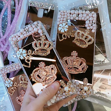 voordelige Galaxy S-serie hoesjes / covers-hoesje Voor Samsung Galaxy Galaxy S10 / Galaxy S10 Plus / Galaxy S10 E Strass Achterkant Strass Hard Acryl