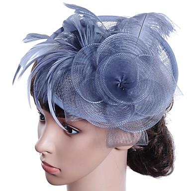 ieftine Bijuterii de Păr-Pentru femei Fascinators Pentru Bal Prinţesă Roșu Vin Maro Deschis Mov