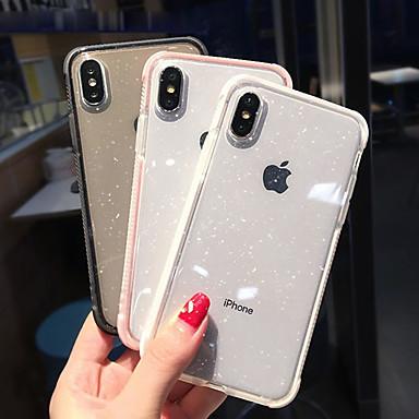 Недорогие Кейсы для iPhone X-Кейс для Назначение Apple iPhone XS / iPhone XR / iPhone XS Max Защита от удара / Полупрозрачный Кейс на заднюю панель Сияние и блеск Мягкий ТПУ