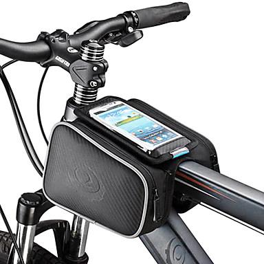 olcso Sport & túra-ROSWHEEL Cell Phone Bag Váztáska 5.5 hüvelyk Érintőképernyő Kerékpározás mert Samsung Galaxy S4 iPhone 5/5s iPhone 8/7/6S/6 Fekete Kerékpározás / Kerékpár / iPhone X / iPhone XR / iPhone XS