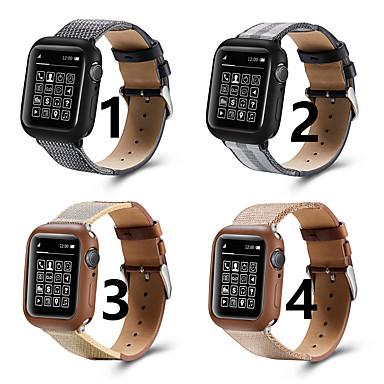 voordelige Smartwatch-accessoires-Horlogeband voor Apple Watch Series 5/4/3/2/1 / Apple Watch Series 4 Apple Klassieke gesp Nylon / Echt leer Polsband