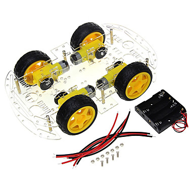 cheap Raspberry Pi-4 wheel smart car chassis diy kit code wheel speed tracking bluetooth remote control car accessories