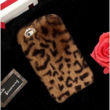 Недорогие Кейсы для iPhone 7 Plus-Кейс для Назначение Apple iPhone XS / iPhone XR / iPhone XS Max С узором Кейс на заднюю панель Леопардовый принт Мягкий текстильный