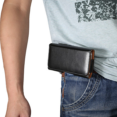 Недорогие Универсальные чехлы и сумочки-Кейс для Назначение Blackberry / Apple / SSamsung Galaxy Универсальный Спортивныеповязки / Бумажник для карт Поясные сумки / Мешочек Однотонный Мягкий Кожа PU