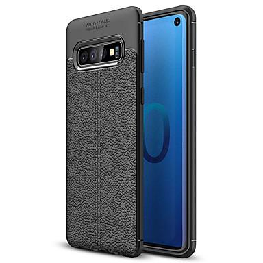voordelige Galaxy S-serie hoesjes / covers-hoesje Voor Samsung Galaxy Galaxy S10 / Galaxy S10 Plus / Galaxy S10 E Mat Achterkant Effen Zacht TPU