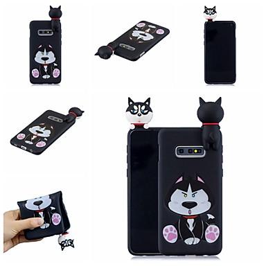 رخيصةأون حافظات / جرابات هواتف جالكسي S-غطاء من أجل Samsung Galaxy S9 / S9 Plus / S8 Plus نموذج غطاء خلفي كلب / كارتون ناعم TPU