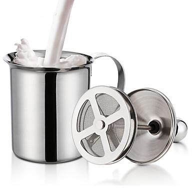 olcso Bögrék-kettős hálós tejkrém rozsdamentes acél tejhab cappuccino tejkancsókhoz tojássütő konyhai szerszámgépek