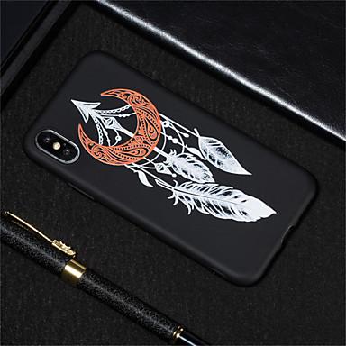 voordelige iPhone X hoesjes-hoesje Voor Apple iPhone XS / iPhone XR / iPhone XS Max Mat / Patroon Achterkant Veren Zacht TPU