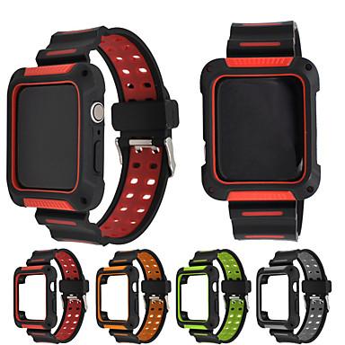 Недорогие Аксессуары для смарт-часов-Ремешок для часов для Серия Apple Watch 5/4/3/2/1 Apple Современная застежка силиконовый Повязка на запястье