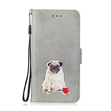 voordelige Galaxy Note-serie hoesjes / covers-hoesje Voor Samsung Galaxy Note 9 Kaarthouder / Patroon Volledig hoesje dier / Bloem Hard PU-nahka