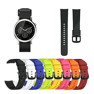 Недорогие Аксессуары для смарт-часов-Ремешок для часов для Moto 360 2nd Motorola Спортивный ремешок силиконовый Повязка на запястье
