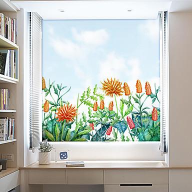 7 34 Fenster Film Aufkleber Dekoration Moderne 3d Blume Pvc Fenster Aufkleber Sichtschutz