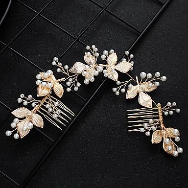 ieftine Bijuterii de Păr-Pentru femei Pentru Logodnă Temă Florală Temă Clasică Imitație de Perle Aliaj Auriu
