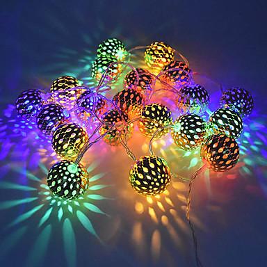 1.5M أضواء سلسلة 10 المصابيح أبيض دافئ / RGB / أبيض إبداعي / تصميم جديد / حزب بطاريات آ بالطاقة