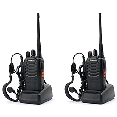 cheap Walkie Talkies-2PCS Baofeng BF-888S Walkie Talkie 888s 5W 2800mAh 16 Channels 400-470MHz UHF FM Transceiver 6m Two Way Radio Comunicador For Outdoor Racing(Give headphones)