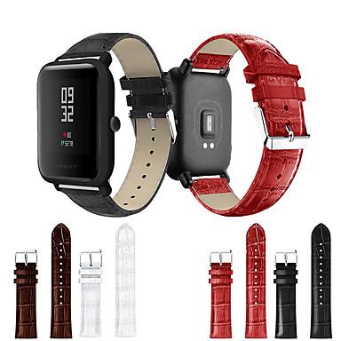 olcso Nézd Zenekarok Samsung-Nézd Band mert Huami Amazfit Bip Younth Watch Samsung Galaxy Sportszíj Valódi bőr Csuklópánt