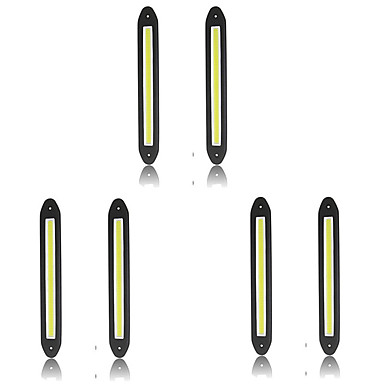 Недорогие Дневные фары-6шт Проводное подключение Автомобиль Лампы 10 W COB 800 lm 10 Светодиодная лампа Фары дневного света Назначение Универсальный Все года
