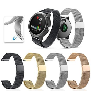 voordelige Horlogebandjes voor Garmin-Horlogeband voor vivomove HR / Vivoactive 3 Garmin Sportband / Milanese lus Roestvrij staal Polsband