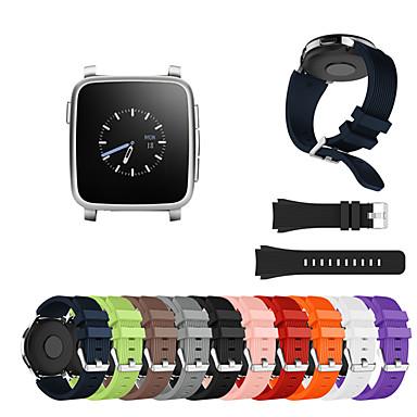 voordelige Horlogebandjes voor Pebble-Horlogeband voor Pebble Time / Pebble Time Steel Pebble Sportband Silicone Polsband
