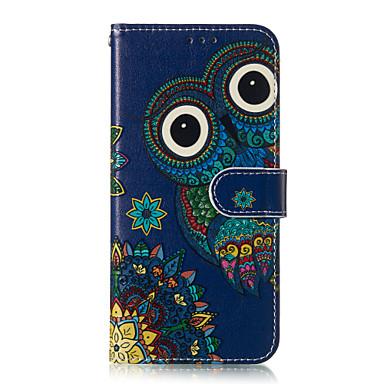 Недорогие Чехлы и кейсы для Galaxy S-Кейс для Назначение SSamsung Galaxy S9 / S9 Plus / S8 Plus Бумажник для карт / С узором Чехол Животное Твердый Кожа PU