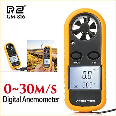 mjerni instrumenti za mjerenje brzine anzometar LCD digitalni mjerač brzine vjetra prijenosni 0-30m / s gm816 mjerač brzine vjetra