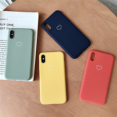 olcso iPhone 7 tokok-Case Kompatibilitás Apple iPhone XS / iPhone XR / iPhone XS Max Minta Fekete tok Szív Puha TPU