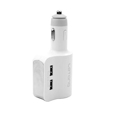 letang autolader sigarettenaansteker 3 usb-poorten 3.1a met intelligente bescherming geschikt voor auto, SUV, vrachtwagen