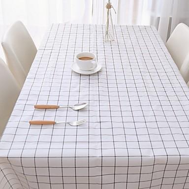 كلاسيكي PVC مربع قماش الطاولة شرشفات الطاولة هندسي مقاوم للماء الجدول ديكورات 1 pcs