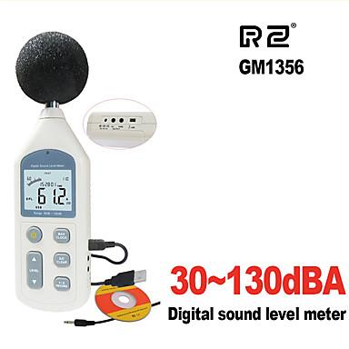 rz novi digitalni mjerač razine zvuka mjerač buke gm1356 30-130db lcd a / c brz / spor db zaslon usb + softver